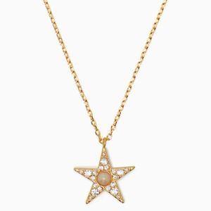 """NWT! KATE SPADE """"SEEING STARS"""" Pave Star Necklace"""
